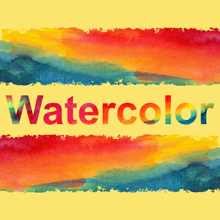 warm colors: Watercolor stains on white background in warm colors