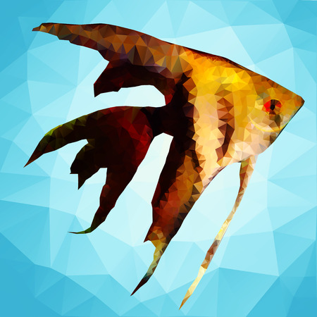 herring: Ornamental fish in the style of polygon graphics