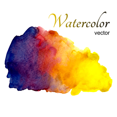 warm colors: Manchas de acuarela en el fondo blanco en colores cálidos Vectores