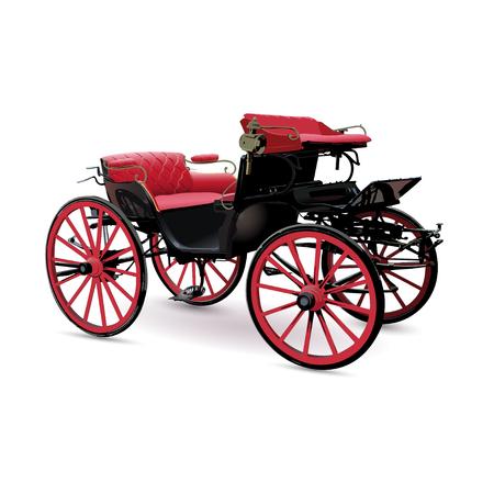 Chat avec rouge sellerie objet isolé sur fond blanc, image. Peut être utilisé comme modèle.