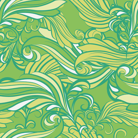 abstract green: Abstract floral seamless pattern in green and yellow colors on a green background