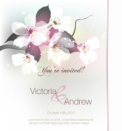 invitation with floral