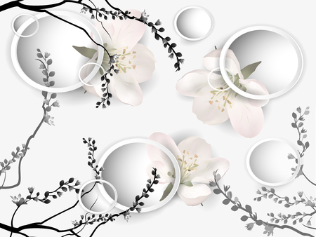 Background with Apple blossoms