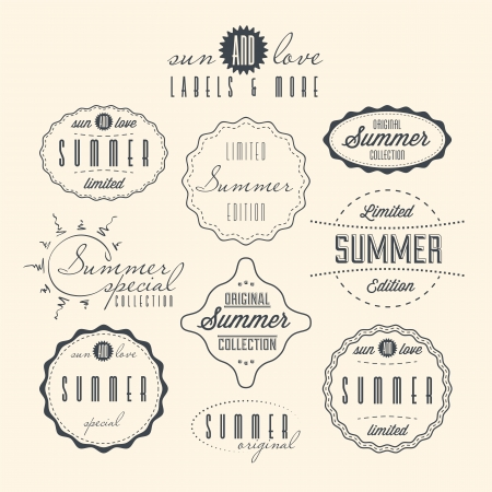 special edition: Set of summer related vintage labels