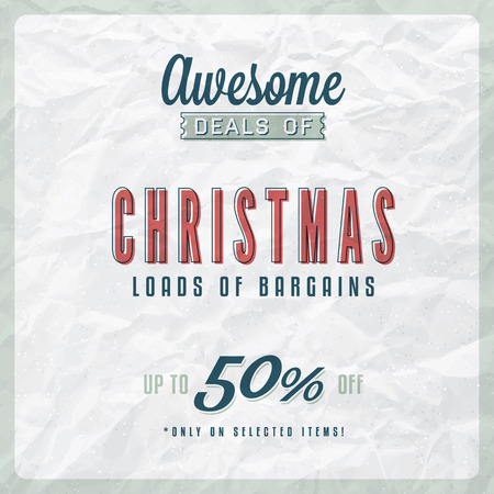 textured paper: Christmas Sale Label on Vintage Textured Paper