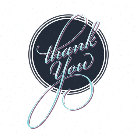 Thank You Card with a Retrofuturistic Touch. Say Thank You with Style! Ilustração