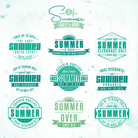 clearance sale: Collection of summer sales related vintage labels