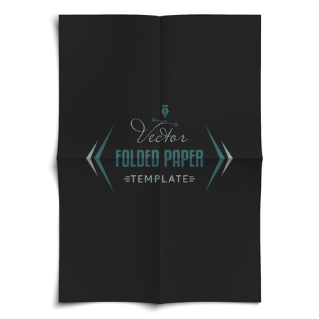 unfolded: Realistic Vector Folded Paper Template with Texture and Shadow - Layered, Organized Vector File