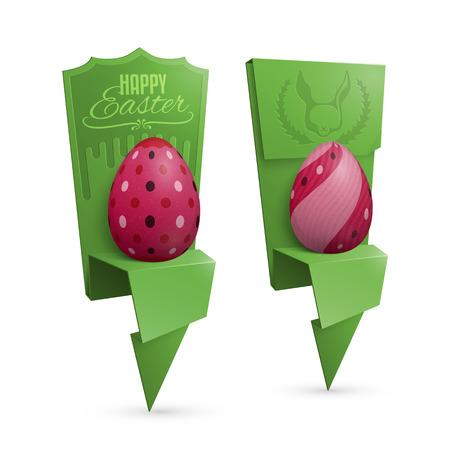 Origami Easter Egg Holders Vector