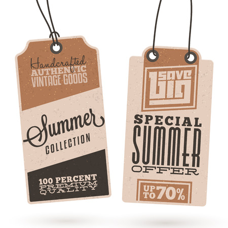 Collection of Vintage Summer Sales Related Hang Tags