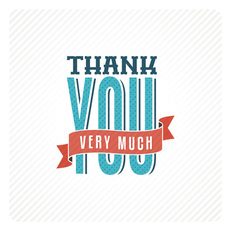 thanks you: Vintage thank you card