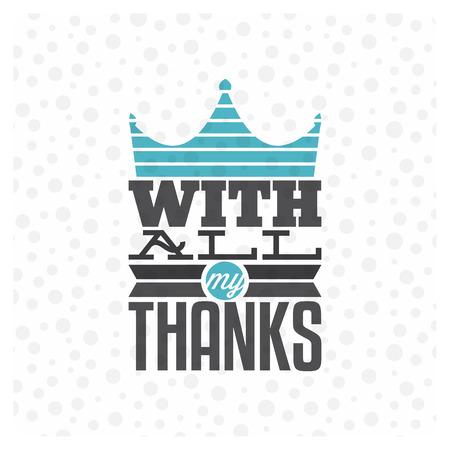 tipos de letras: Vintage tarjeta de agradecimiento