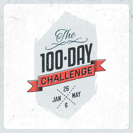 challenge: The 100 Day Challenge Vintage Label with Textures
