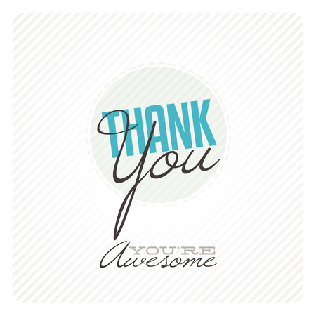 thanks: Vintage thank you card