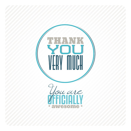 you: Vintage thank you card