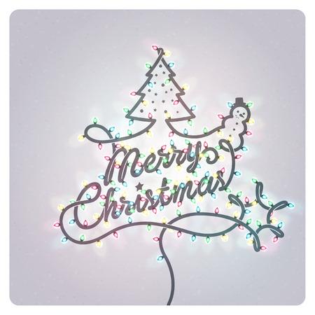 christmas greeting card: Creative Christmas Greeting Card