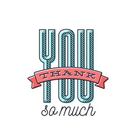 ビンテージ タッチでスタイルのあなたの感謝を表現するためのありがとうございます名刺デザインの素敵です