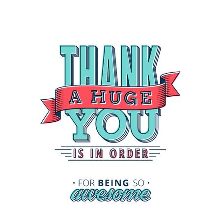 Encantador gracias cardar el diseño con un tacto del vintage para ayudarle a expresar su gratitud en estilo