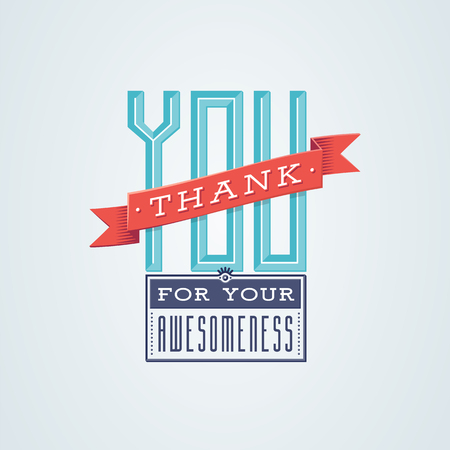 Lovely Thank You card design with a vintage touch to help you express your gratitude in style