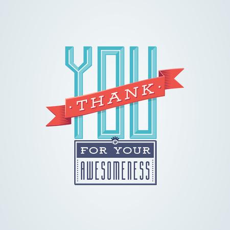 Lovely Thank You-Karte Design mit einem Vintage-Touch, um Ihnen zu helfen, Ihre Dankbarkeit in der Art auszudrücken Standard-Bild - 78891344