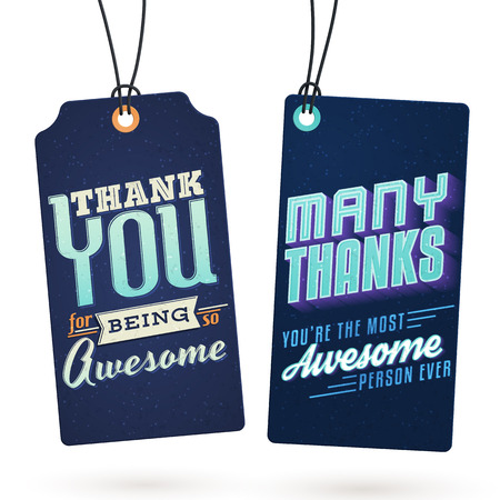 Vintage Hang Tags with Thank You Notes to help you express your gratitude in style Illustration