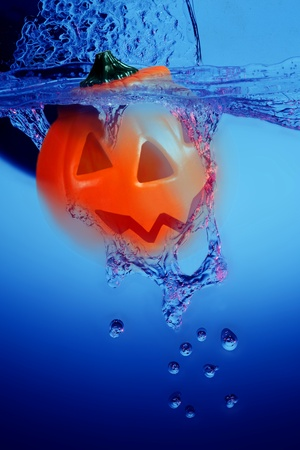 swimming candles: halloween Stock Photo