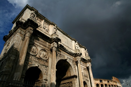 triumphal: triumphal arch Stock Photo