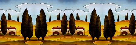 naif: tuscany country