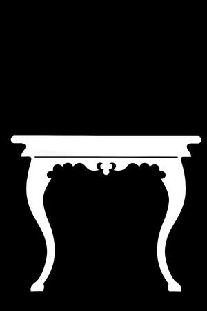 immagination: silouette furniture Stock Photo
