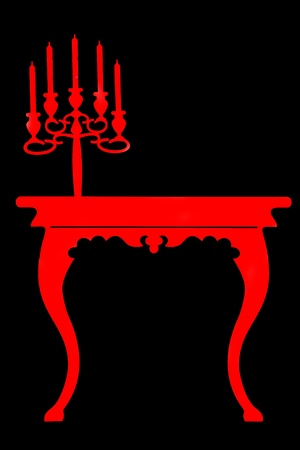 candelabrum: silouette furniture Stock Photo