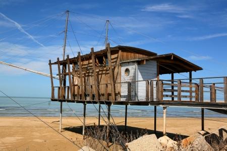 fishing huts: stilts