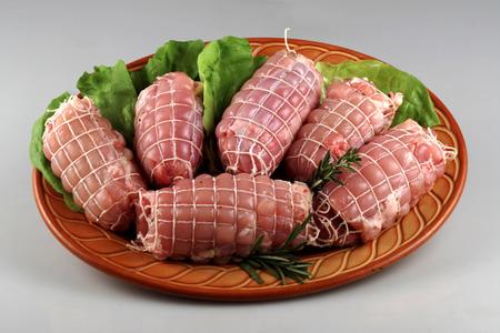 butcher s shop: skewers of meat
