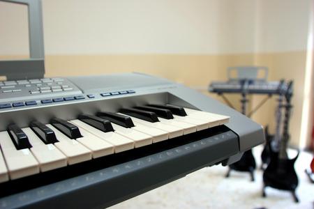 pentagramma musicale: strumento musicale Archivio Fotografico