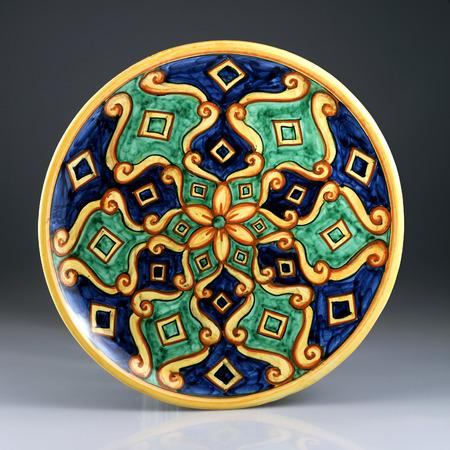 majolica: decorated ceramics Stock Photo