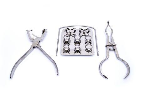 Dental-Koffer-Kofferdam-Rahmen, Schlag, Pinzette
