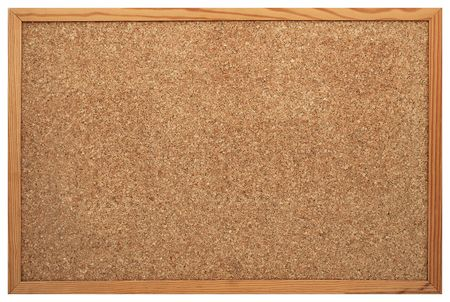 Blank Cork board with wooden frame (isolated) Stock Photo - 7905910