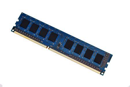 ddr3: RAM closeup on white background