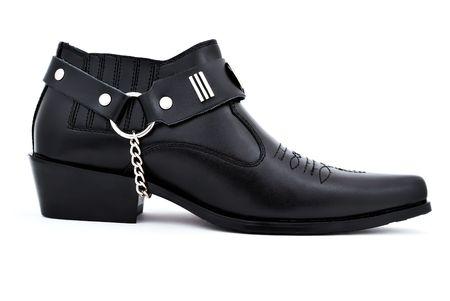 stylish men's shoes on a white background