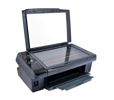 multifunction printer on a white background Stock Photo