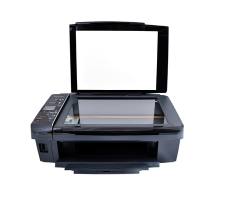 multifunction printer on a white background photo
