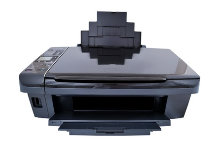 bubblejet: multifunction printer on a white background Stock Photo
