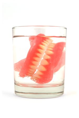 dentures in a glass of water Stock Photo - 8483971