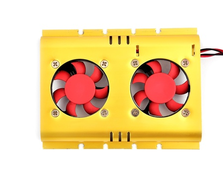 cooler for the hard disk on a white background Stock Photo - 9113498