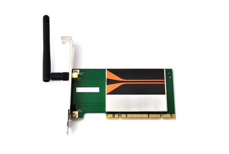 wireless pci card on a white background Stock Photo - 9485208
