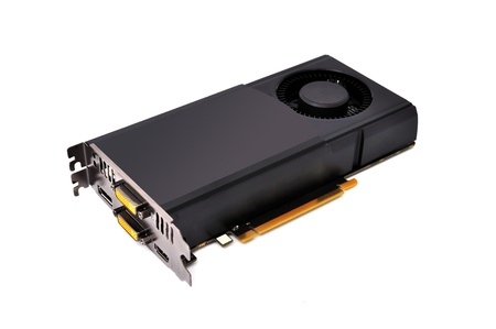 video card  on a white background photo