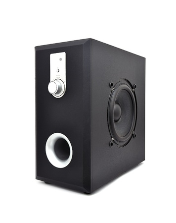 subwoofer black on a white background photo