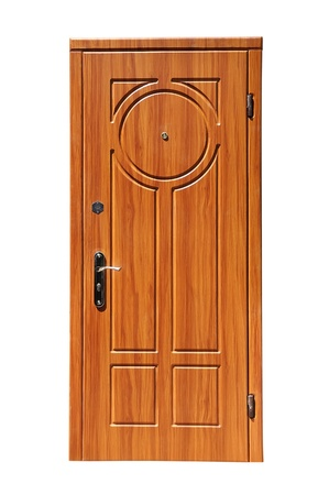 brown door on a white background Stock Photo - 10391607