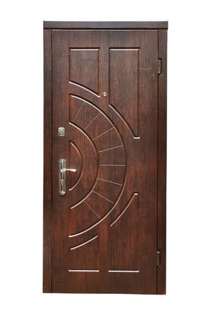 welcome door: porta di legno su uno sfondo bianco