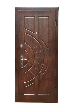 wooden  door on a white background Фото со стока - 10391590