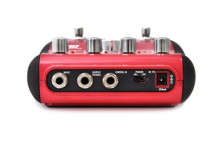 Guitar multi effects pedal isolated on white photo